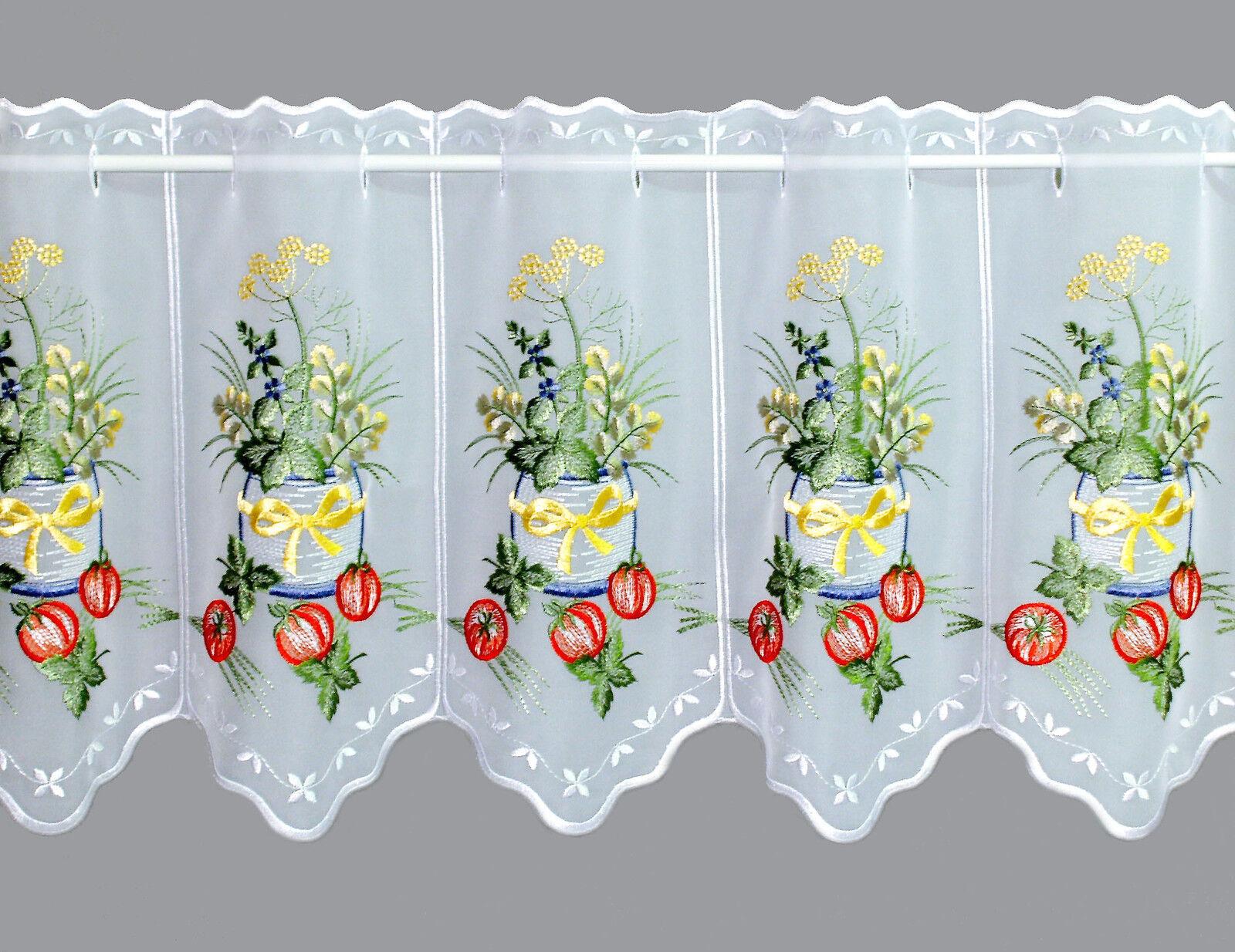 Bistrogardine Küchengardine Scheibengardine Kräutertopf Plauener Spitze Spitze Spitze 2 Höhen | Das hochwertigste Material  89fcd1