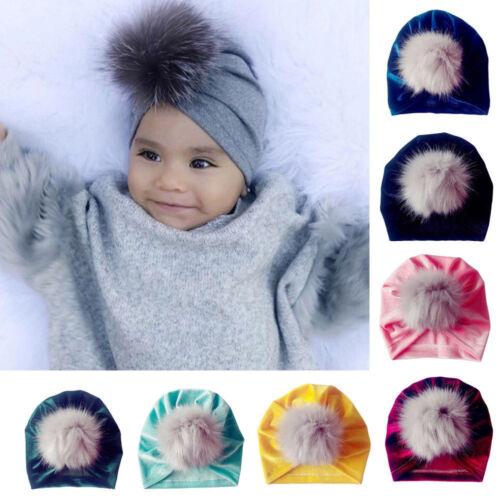 Winter Newborn Toddler Kids Baby Boy Girl Venonat Turban Beanie Hat Headdress #B
