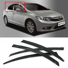 Smoke Window Vent Viors Rain Guards Sun Shield A155 for HONDA 2011-2015 Civic