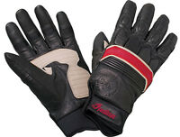 Indian Motorcycles Retro Black Leather Gloves Genuine Mens Chief Vintage