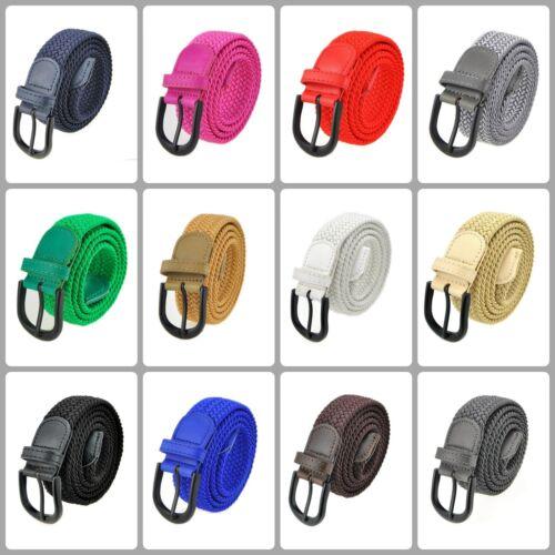 Men Women Junior Casual Dress Braided Stretch Elastic Belt Choose Size /& Color