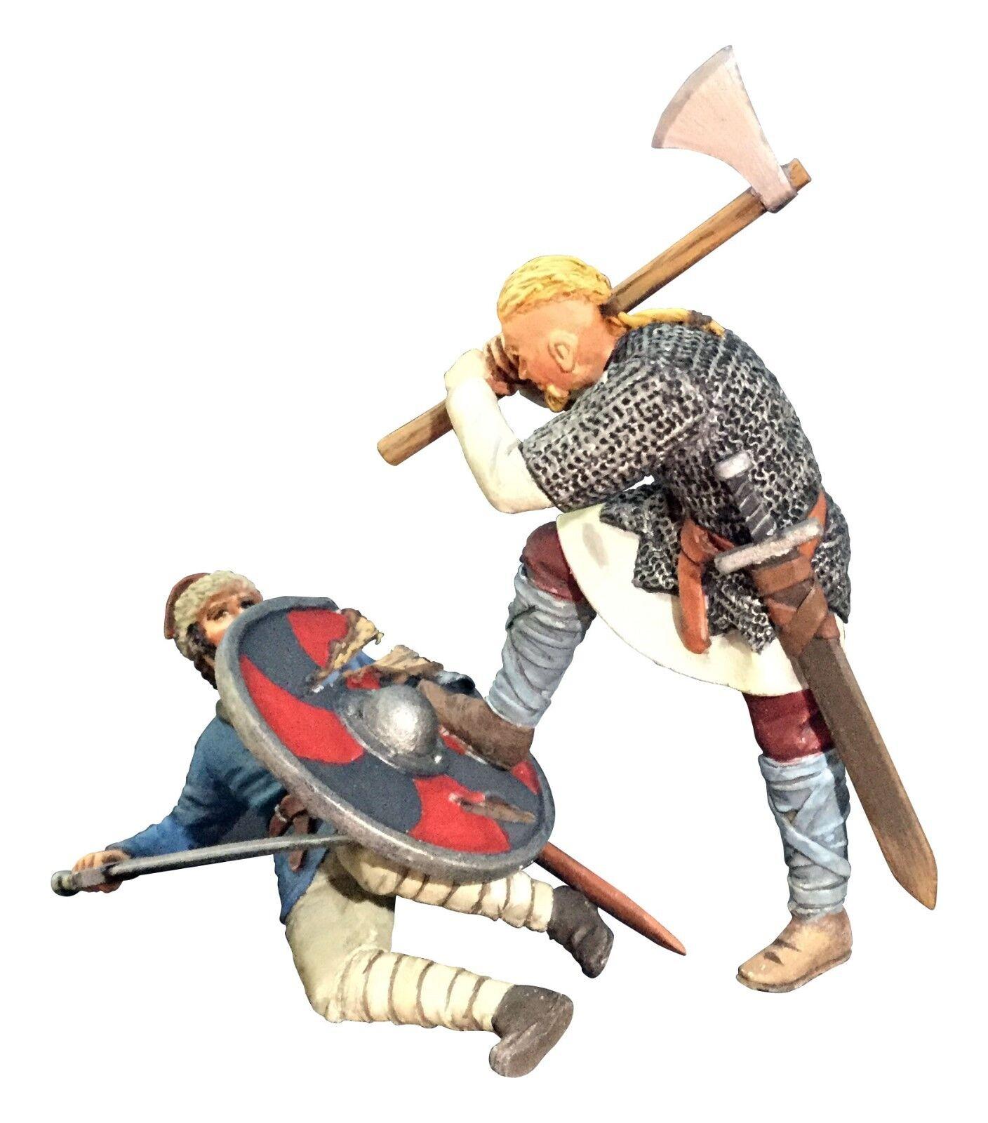 BRITAINS SOLDIER 62122 - Overwhelmed Viking Striking Downed Saxon