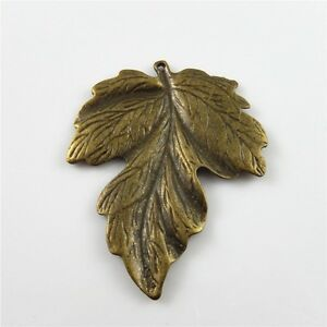 Wholesale-6pcs-Antique-Bronze-Alloy-Chic-Leaves-Look-Pendants-Charms-Findings