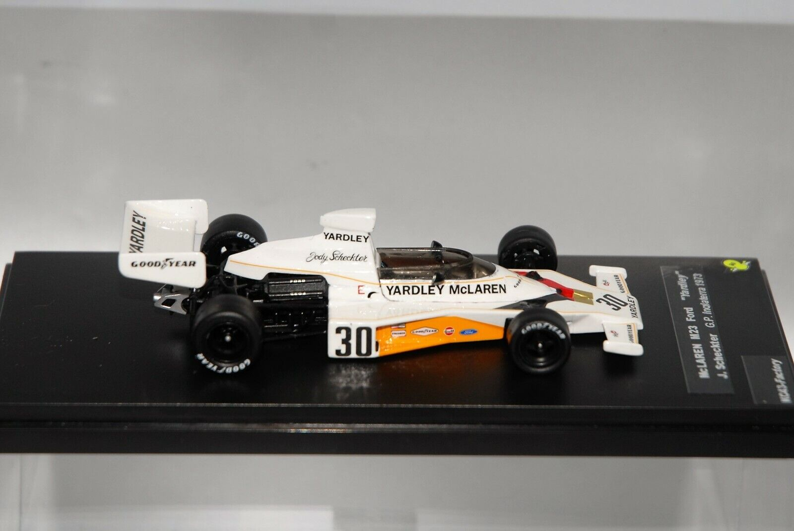 McLaren Ford M23  Yardley  J.Scheckter F1 GP British 1973 1 43 KC43-Factory