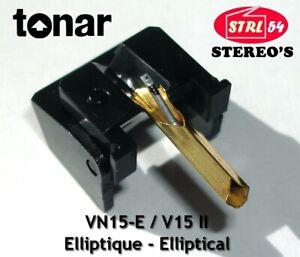 VN15E Stylus Pointe Lecture diamant ELLIPTIQUE TONAR JP pour SHURE V15 Type II 2