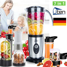 Uten 7 in 1 Standmixer Smoothie Maker Mixer Multifunktion Ice Crusher 220W