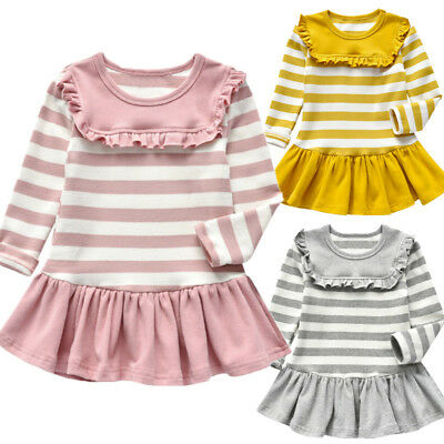 Toddler Girl Baby Dress Long Sleeve Princess Party Pageant Dresses Kids Clothes