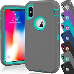 best service 4a9ee 61c1c Details about 15 Shockproof Defender Hybrid Hard Case Wholesale Lot For  Apple iPhone 10 XS Max