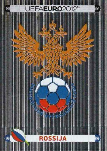 108 Rossija Wappen Logo Glitzer Bild Panini Sticker Fußball EM Euro 2012 Nr