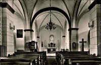 Rehme an der Weser s/w Postkarte 1970 gelaufen Innenansicht der Kirche Altar