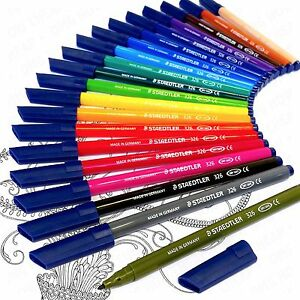 STAEDTLER-Noris-Club-Felt-Tip-Pens-in-Wallet-20-Adult-Colouring-Edition-WP20AC