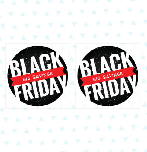 Sale Shop Black Friday Big Savings Removable Window Self Cling Stickers