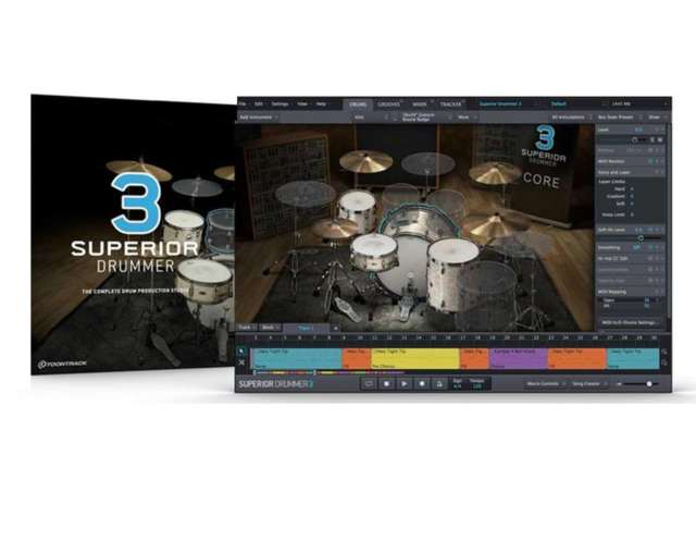 TOONTRACK TOON TRACK SUPERIOR DRUMMER 3.0 VIRTUAL DRUMMING SOFTWARE PC/MAC LICEN