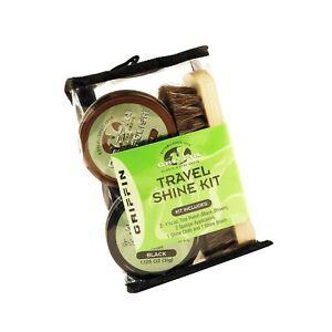 GRIFFIN Travel Shoe Shine Kit - Includes Black Shoe Polish, Brown Shoe Polish...