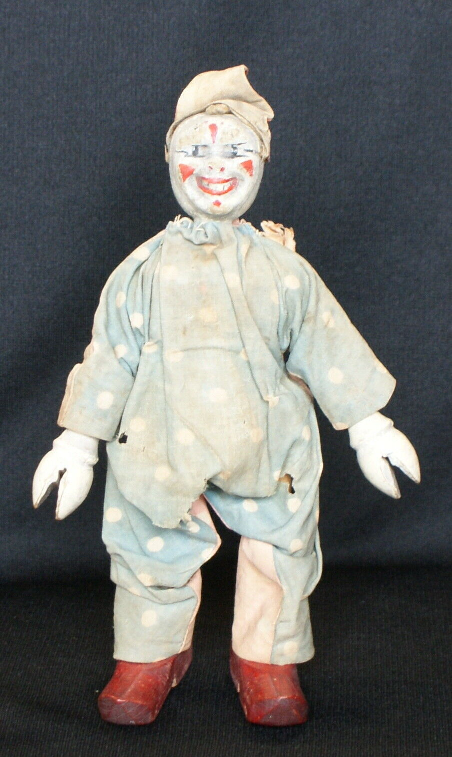 Vintage Schoenhut Humpty Dumpty Circus Clown Painted Eyes 2 Part Head