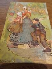 Dutch Postcard colour c1920 VEERE Children Adult Zealand Holland Netherlands