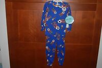 Pajamas Blue Size 7 Child Soccer Long Sleeve 2 Piece Sleepwear Usa