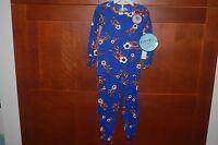 Pajamas Blue Size 7 Child Soccer Long Sleeve 2 Piece Sleepwear Usa