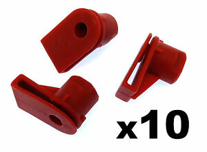 10x-Opel-Vauxhall-Bumper-to-Wing-Mounting-Plastic-Grommet-Nut-for-Screws