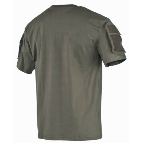 MFH US T-shirt manches poches Army Hommes Shirt Outdoor Armée Olive s-3xl NEUF