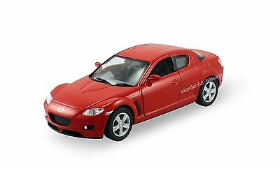 "Kinsmart Mazda RX 8 1:36 scale 5"" diecast metal model car Brand New Red K52"