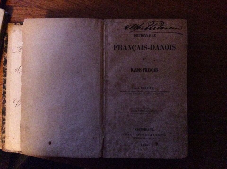 Fransk-dansk,dansk- fransk ordbog. , anden bog