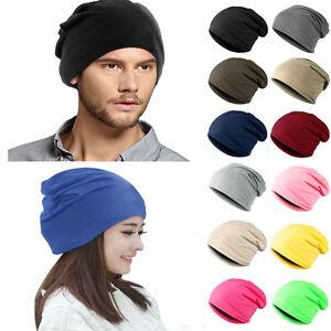 Unisex Women Men Knit Winter Warm Ski Crochet Slouch Hat Cap Beanie Oversized