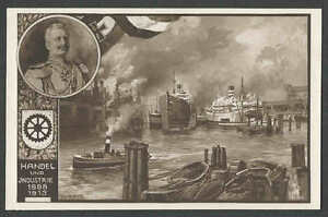 Ca 1913 PPC* VINTAGE BRUSSELS BELGIUM COMMEMORATIVE CARD FOR HANDEL EXPO MINT