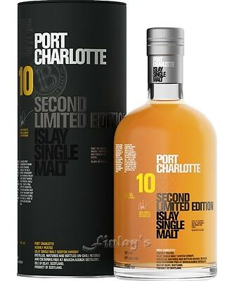 (107,07€/L) Port Charlotte 10 Second Limited Edition Islay Whisky 0,7 L