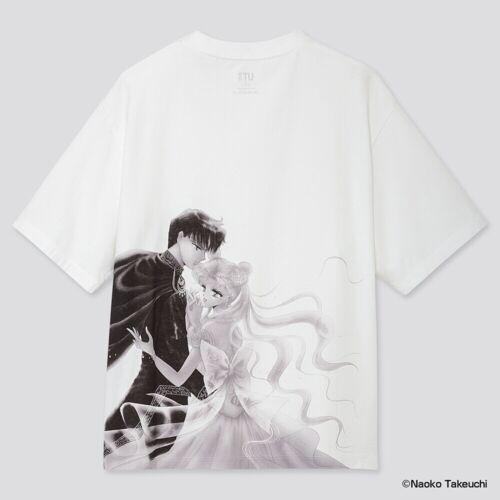 UT limited sailor Moon Graphic Women T-shirt  White Silve Usagi anime  PreOrder