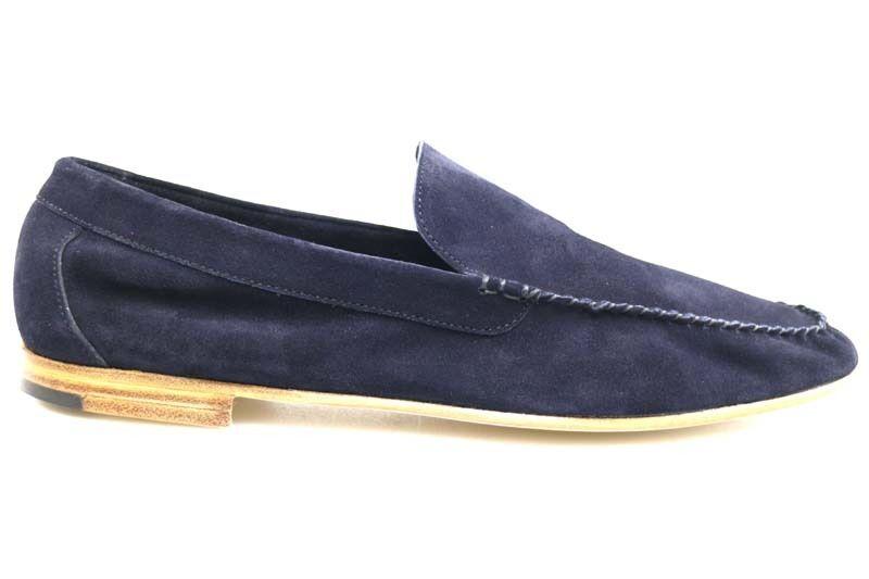 mens shoes 39,5) DI MELLA 5,5 (EU 39,5) shoes moccasins blue suede AU233-H 0b7d62