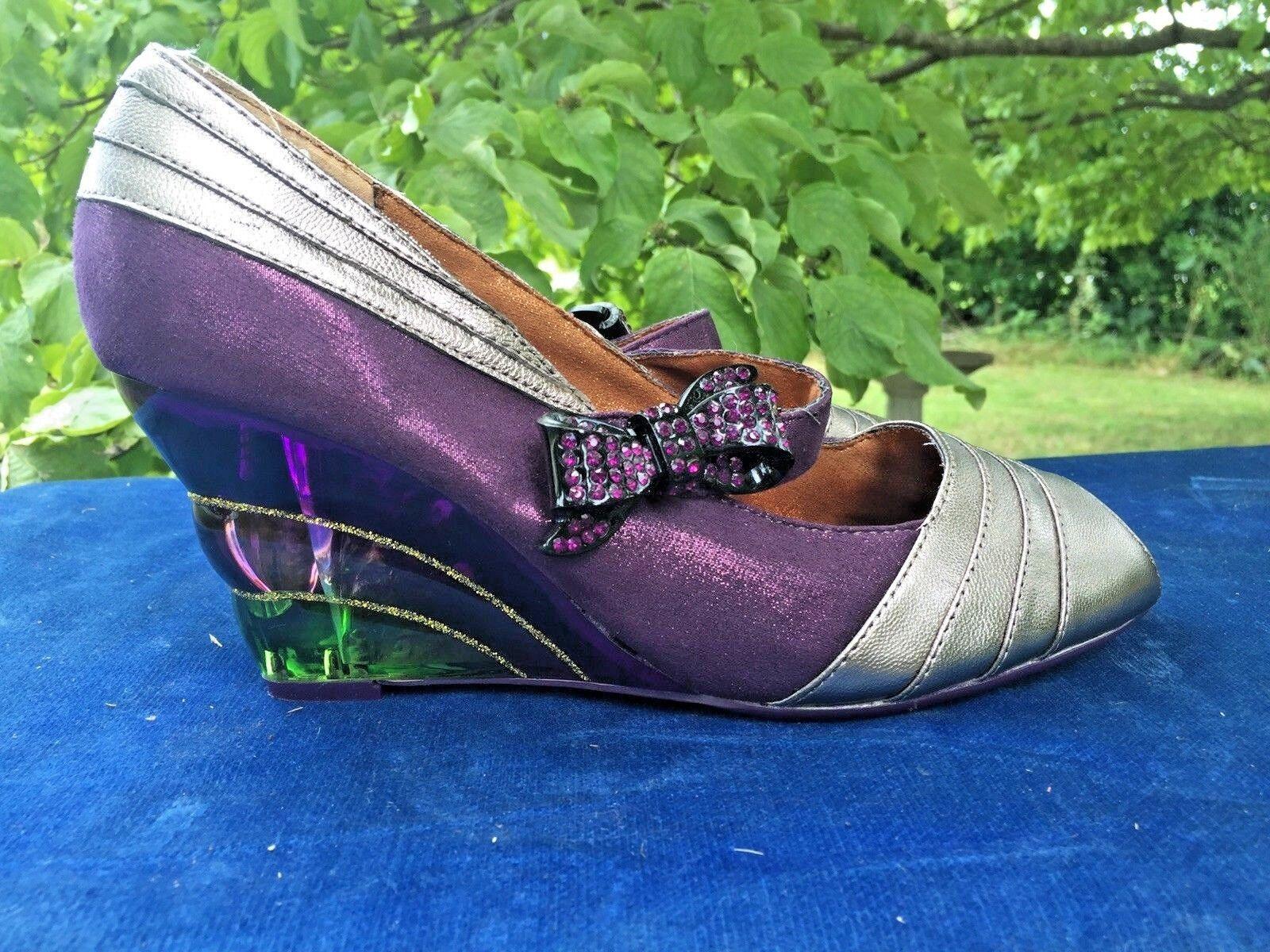 POETIC LICENCE Pretty Woman viola Over Rainbow High Heels scarpe Sz 9.5 b8