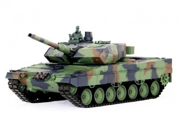 2.4Ghz 1 16 Geruomo Leopard 2A6 RC Tank Upgrade Super  Metal w Smoke & suono RTR  in linea