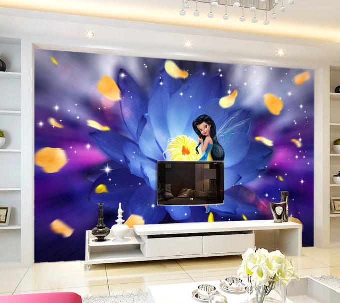 3D Magische Blaumenfee 795 Tapete Wandgemälde Tapeten Bild Familie DE Summer | Verrückte Preis  | Sorgfältig ausgewählte Materialien  | Genial