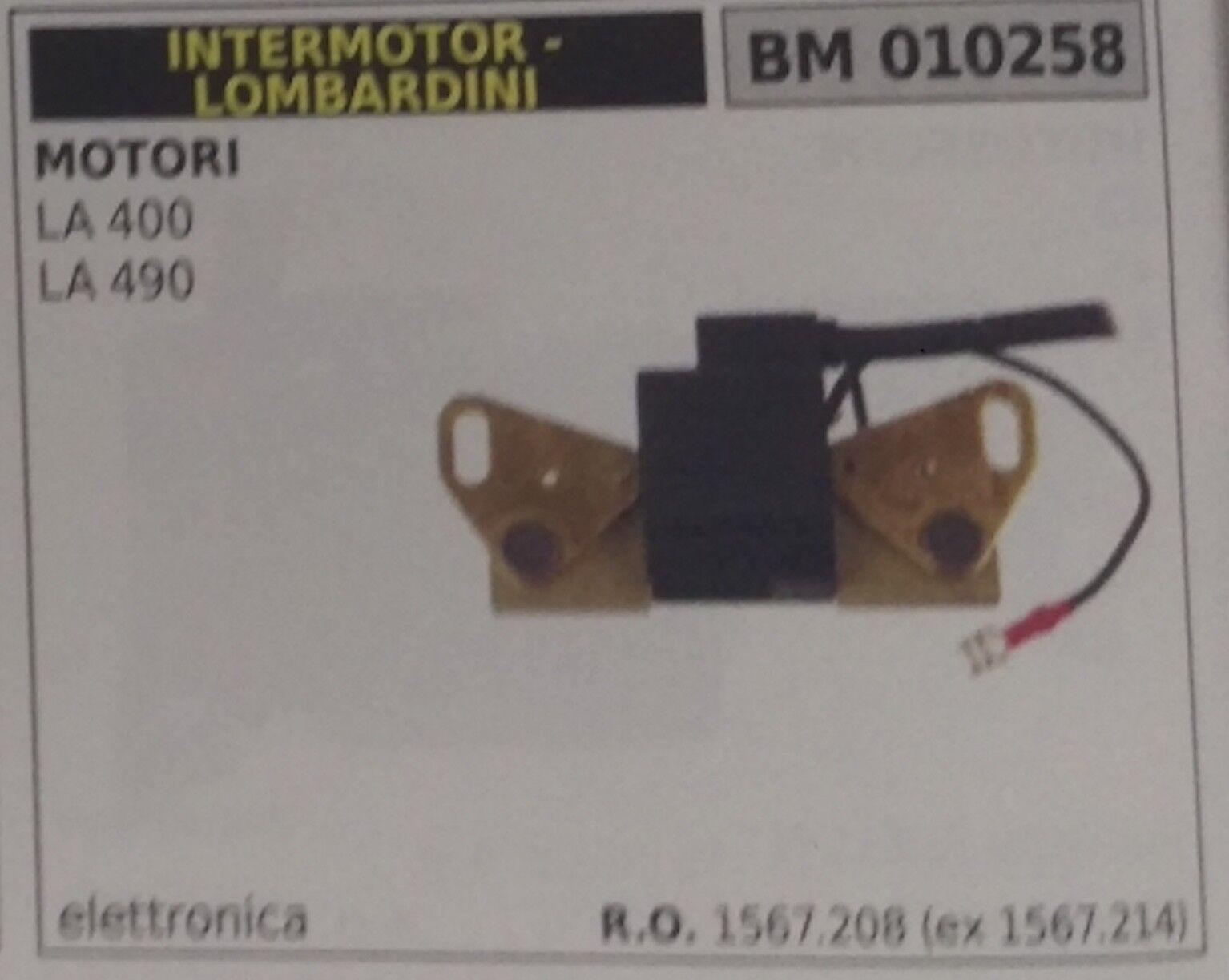 1567208 1567214 BOBINA ELETTRONICA MOTORE INTERMOTOR LOMBARDINI LA400 LA490