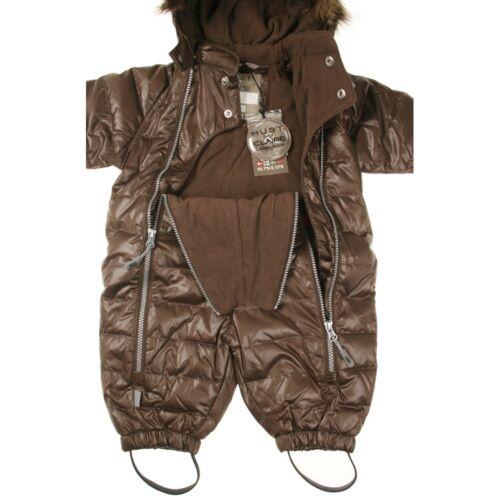edel und warm Baby Schneeanzug mit Daunen-Füllung in braun HUST /& CLAIRE