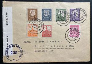 1946 Leipzig Germany Allied occupation Stamps Censored Cover To Frohnlleiten