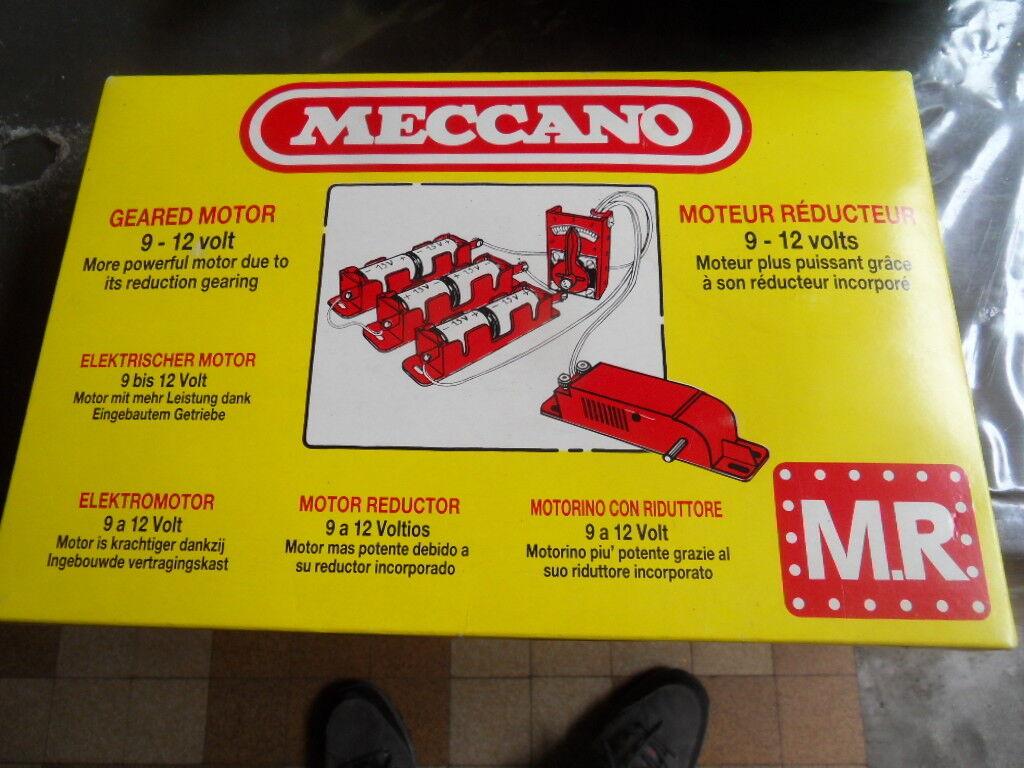 Quand tu fête la nouvelle année, je suis suis suis heureux. Vintage toys constructor engine MECCANO jeu construction moteur Rouge ucteur 9-12V e8175a