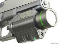 Green Dot Laser/cree Flashlight Combo Sight Bright Weaver Picatinny Rail 20mm T1