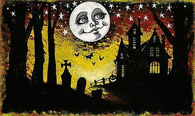 6x10 PRINT OF PAINTING HALLOWEEN RYTA WITCH WICCA VINTAGE STYLE ART FOLK MAGIC