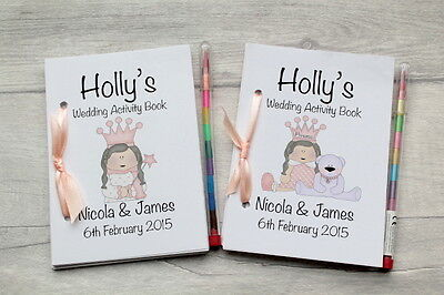 Childrens Personalised A6 Christening  Activity Book Party Bag Favour TEDDY