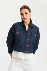 00134e07 TOMMY HILFIGER Women's MOA Cropped Jeans Jacket
