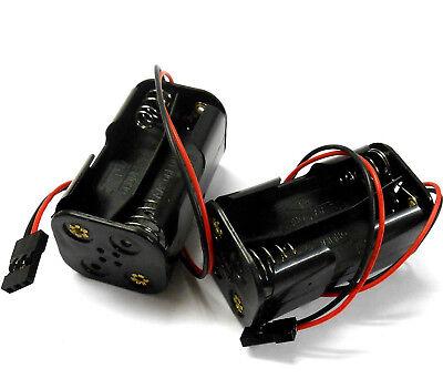 C1202-5 Rc 2 X Supporto Batteria Scatola Custodia Confezione 4 Aa Compatibile Jr Ultima Tecnologia
