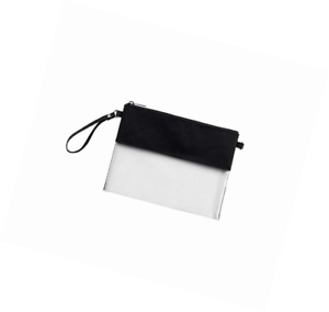 MONOBLANKS Clear Zip Pouch with Detachable Crossbody Adjustable Strap and Wristl