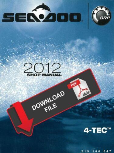 Manuals & Literature Boats & Watercraft Sea-Doo 2012 GTR 215 ...