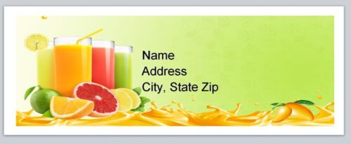 p 137 Personalized Address Labels Summer Drinks Buy 3 get 1 free