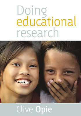 1 of 1 - Doing Educational Research - Paperback NEW Opie, Clive 2004-02-03