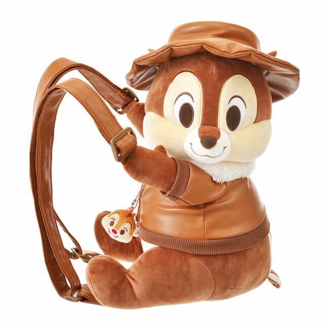 Disney Store Japan Chip /& Dale Plush Backpack Rescue Rangers 2019 Rucksack F//S