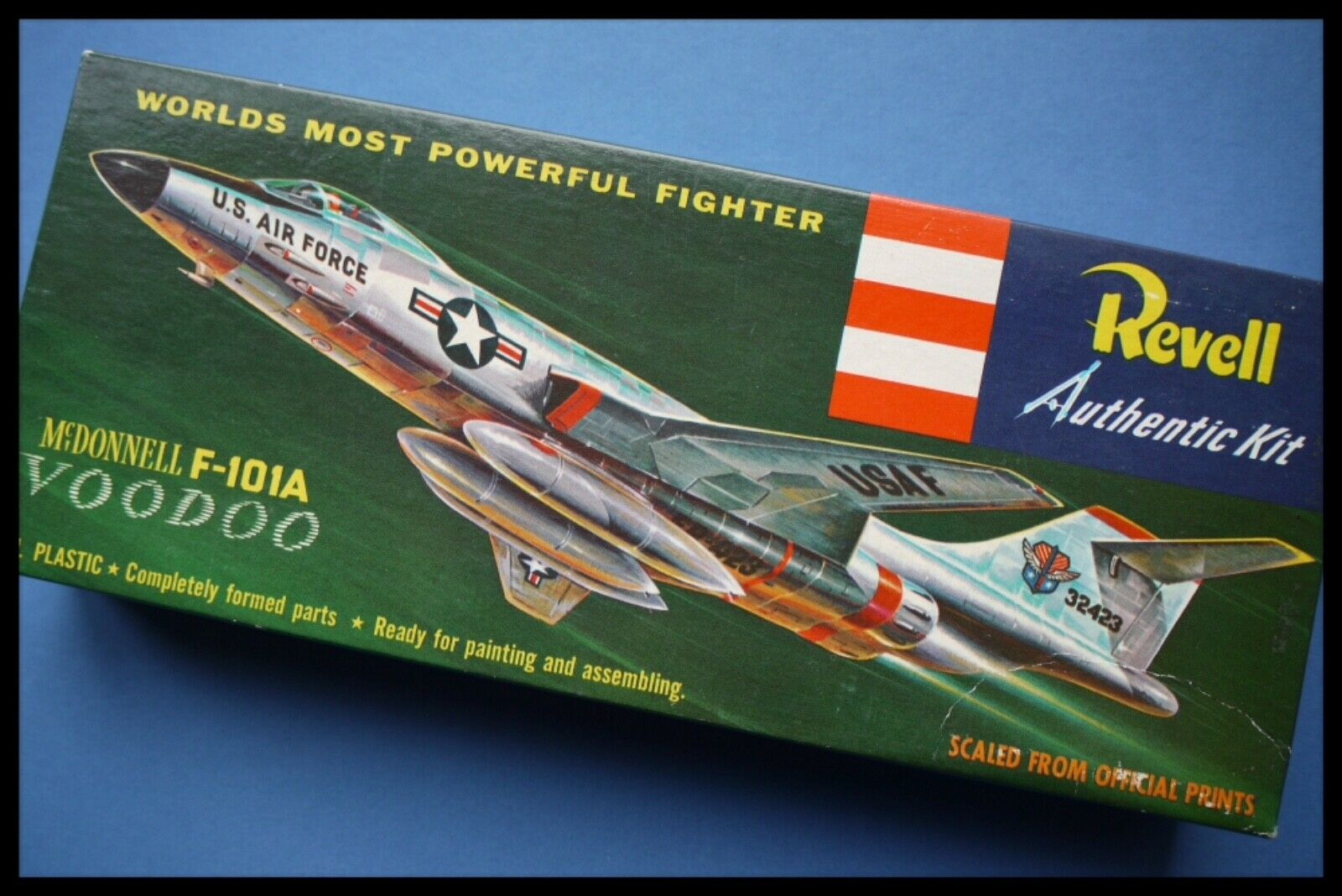 Rare 1956 First Issue TypeS Revell McDonnell F101A Interceptor Plastic Model Kit