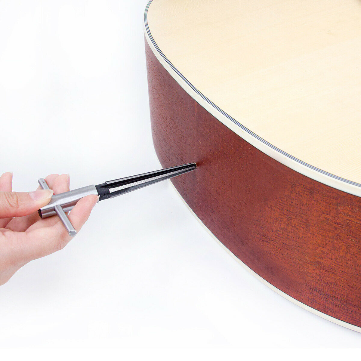 kmise guitar tapered reamer luthier hand wood tungsten for guitar repair parts 689994120835 ebay. Black Bedroom Furniture Sets. Home Design Ideas